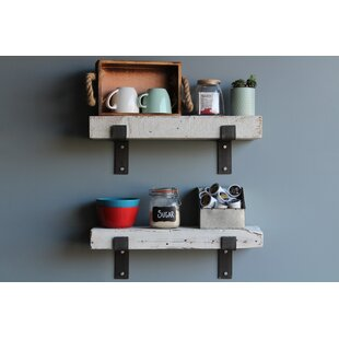 Find Arvilla Reclaimed Barn Wood 2 Piece Wall Shelf Set (Set of 2) ByWilliston Forge