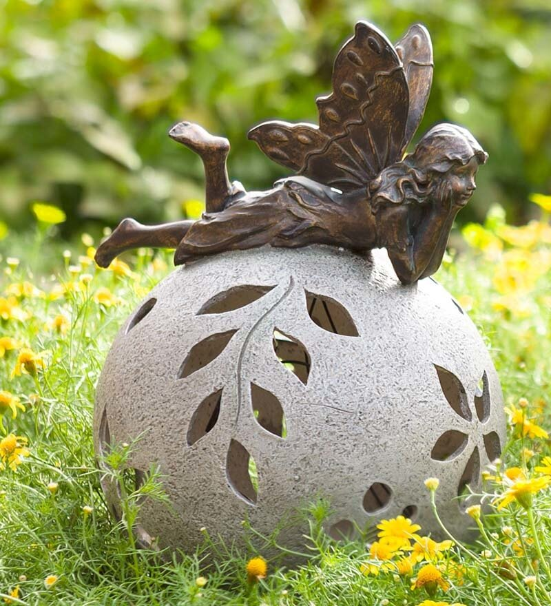 Ning Fairy Solar Light Garden Statue