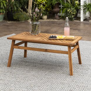 Slattery Chevron Wooden Coffee Table