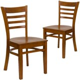 Chafin Solid Wood Ladder Back Dining Chair (Set of 2) by Winston Porter
