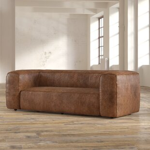 17 Stories Annessia Leather Sofa