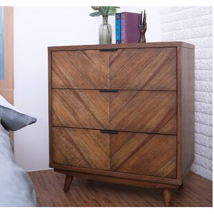 Low priced Bland Chevron 3 Drawer Chest by Union Rustic
