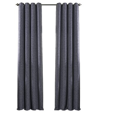 Beautyrest Arlette Solid Blackout Single Curtain Panel Color: Midnight, Size per Panel: 52 W x 95 L