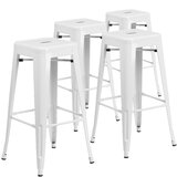 Metal Bar & Counter Stool (Set of 4) by Flash Furniture
