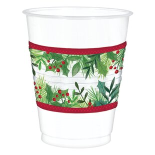 Christmas Plastic Disposable Everyday Cup (Set Of 25) by Amscan Comparison