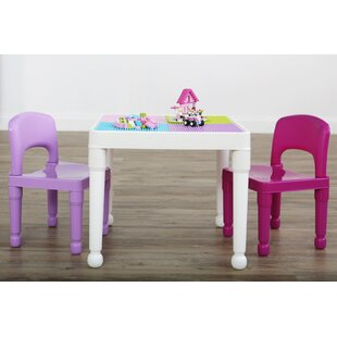 Find for Huck Kids 3 Piece Activity Table and Chair Set By Zoomie Kids