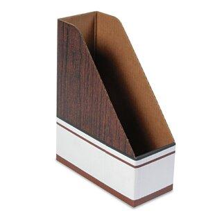 Bankers Box® Open Back Corrugated Cardboard Magazine File, 4 x 9 x 11-1/2, Wood Grain, 12/Ctn