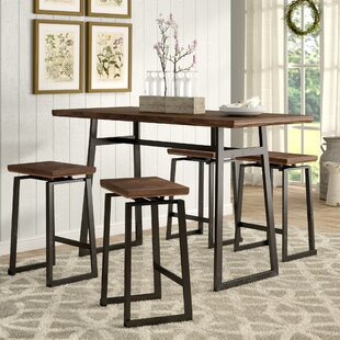 Cassiopeia Industrial 5 Piece Counter Height Dining Set by Wade Logan
