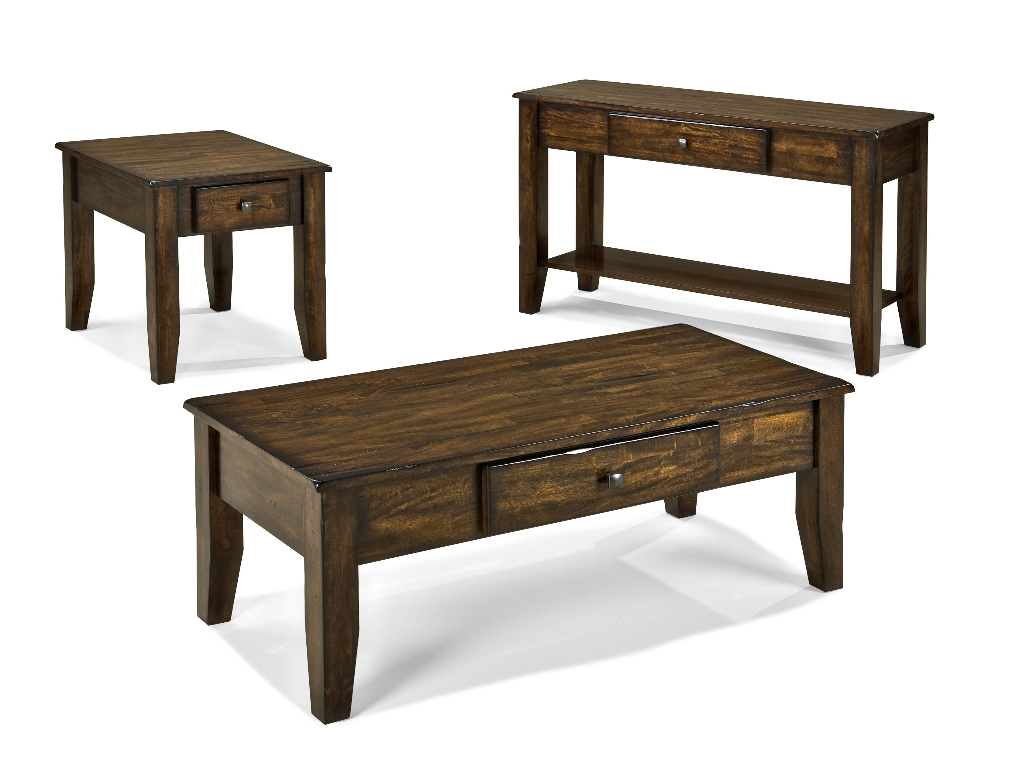 Loon Peak Kaitlin 3 Piece Coffee Table Set Wayfair