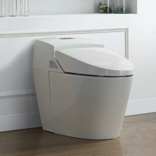 Ove Decors Godfrey 1.6 GPF Round One Piece Toilet with Touchless Flush