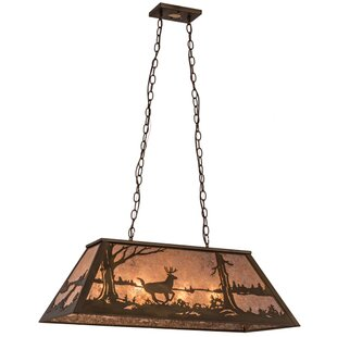 Meyda Tiffany Deer at Lake 6-Light Pendant