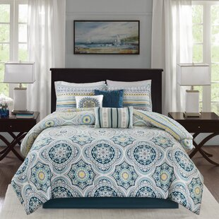 Bungalow Rose Thatcher Cotton 7 Piece Reversible Comforter Set