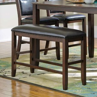Darby Home Co Mangels Upholstered Bench in Dark Brown