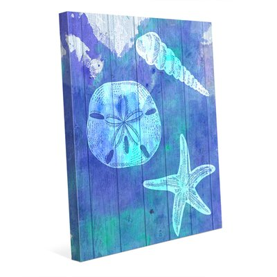 "Sea Treasure Graphic Art on Wrapped Canvas Click Wall Art Size: 20"" H x 16"" W x 1.5"" D"