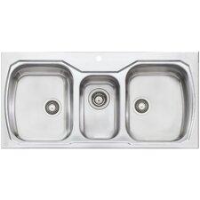 Melbourne 42 X 20 Triple Bowl Kitchen Sink