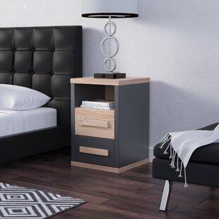Ebern Designs Novoa 2 Drawer Nightstand