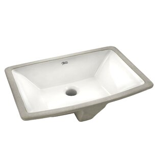 Reviews Townsend Vitreous China Rectangular Undermount Bathroom Sink with Overflow By American Standard