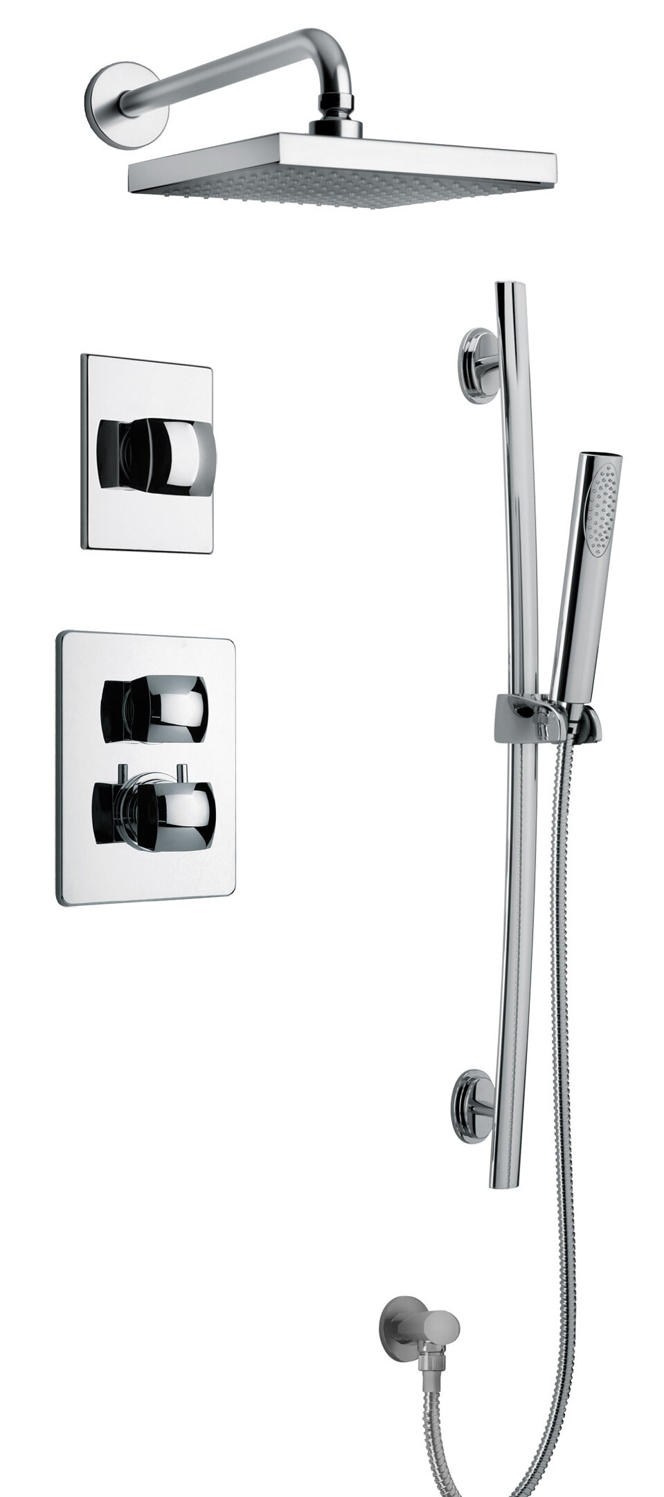 Latoscana Lady Thermostatic Complete Shower System Reviews Wayfair
