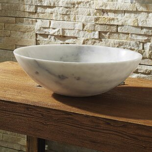 Virtu USA Thia Stone Circular Vessel Bathroom Sink