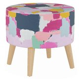 Morrisville Round Ottoman with Splayed Legs by Wrought Studio™