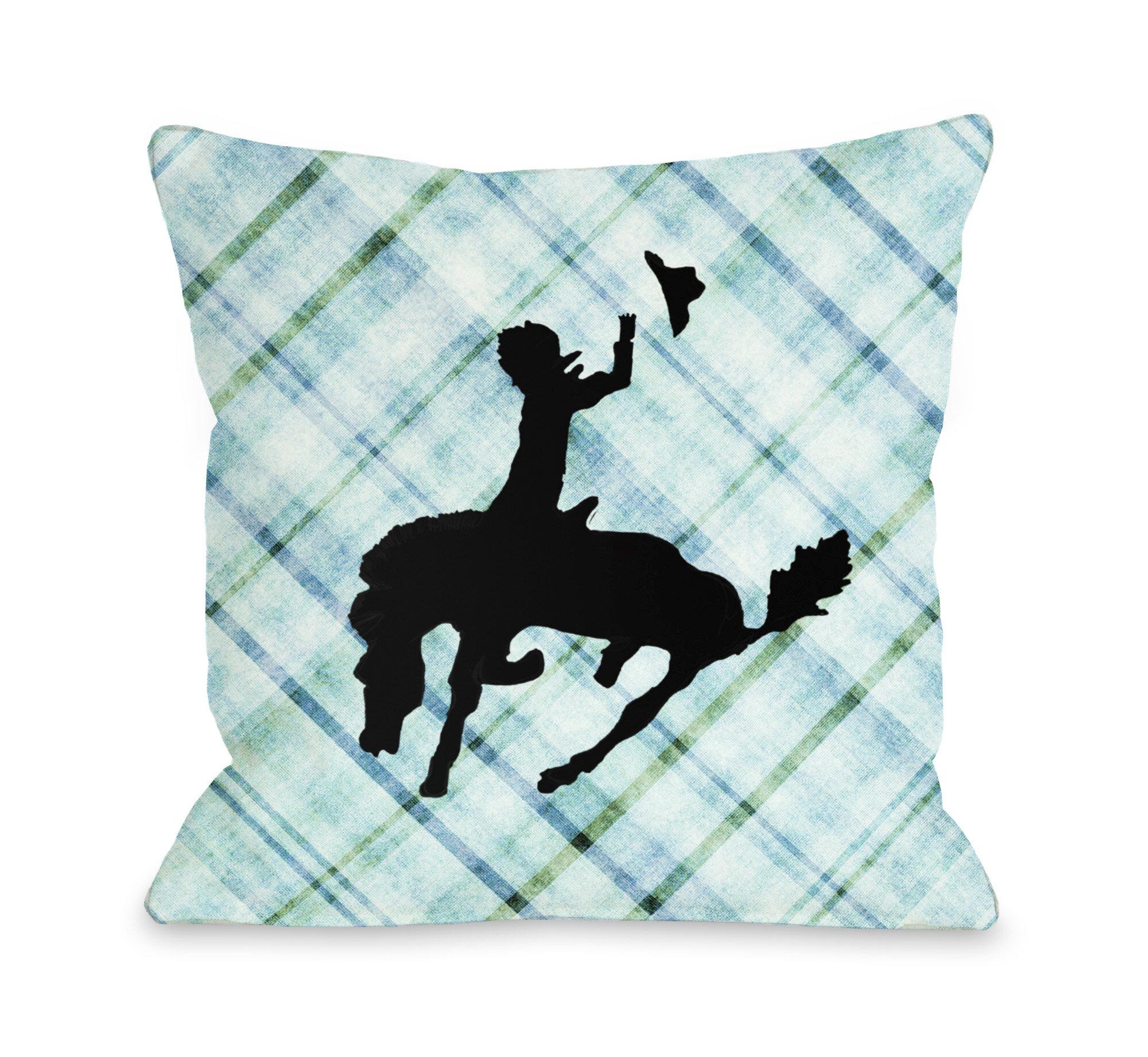 Decorative Pillows Recommendations : One Bella Casa Plaid Cowboy Throw Pillow Wayfair