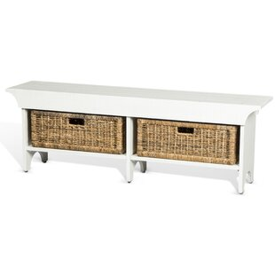 Andrew Wood Bench with Storage Bench