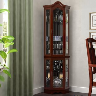 Beau Tall Glass Door Curio Cabinet | Wayfair