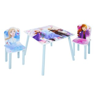 Aida Children's 3 Piece Table And Chair Set By Frozen