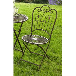 Provence Folding Patio Dining Chair (Set of 2)