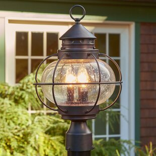 Chincoteague Outdoor Post Lantern : outdoor electric lantern lights - www.canuckmediamonitor.org