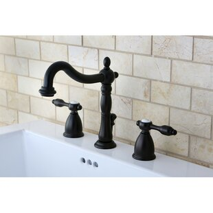 Kingston Brass Tudor Widespread Bathroom Faucet with ABS Pop-Up Drain