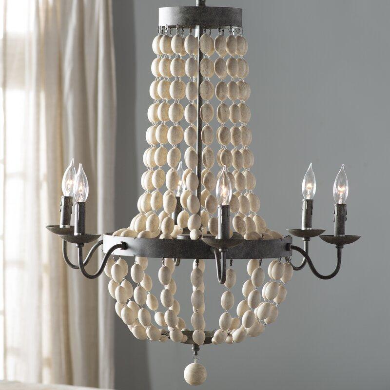 Birch lane addington 6 light candle style chandelier reviews addington 6 light candle style chandelier audiocablefo