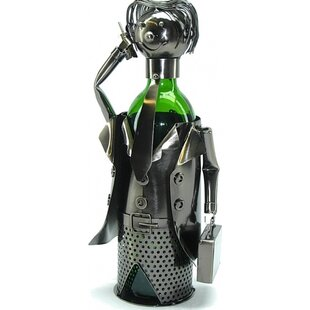 Businessman 1 Bottle Tabletop Wine Rack b..