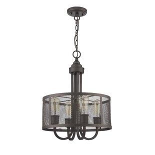 Laurel Foundry Modern Farmhouse Bouvet Industrial 4-Light Pendant