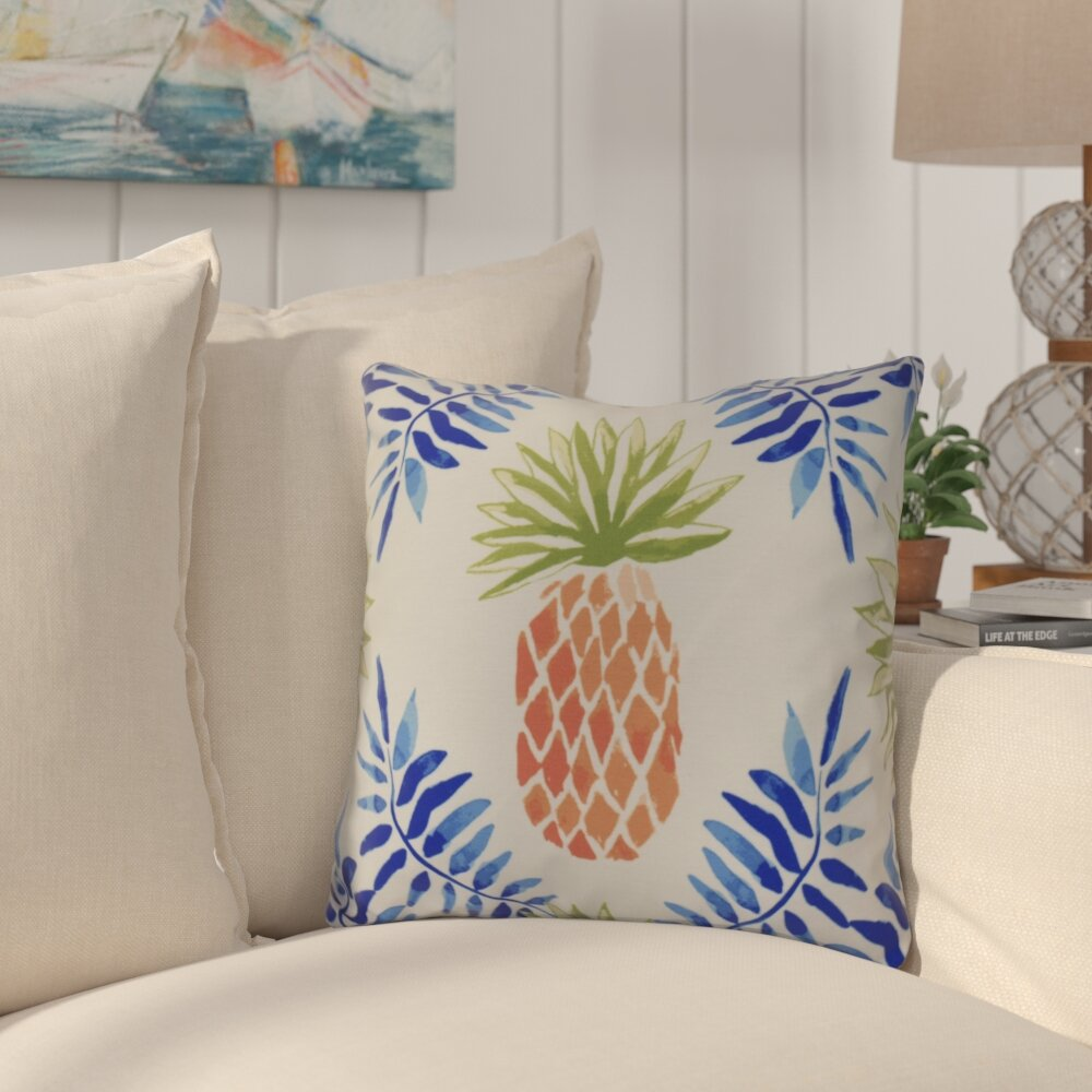 "PILLOWS 18/"" SQUARE /""TROPICAL PINEAPPLE/"" INDOOR OUTDOOR PILLOW"