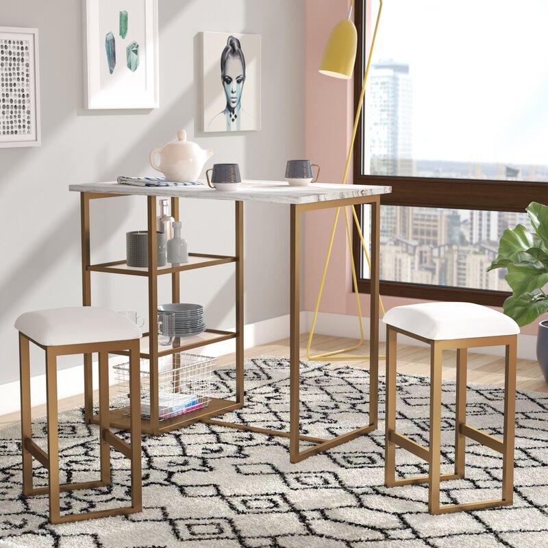 denham 3 piece pub table set - 3 Piece Pub Table Set