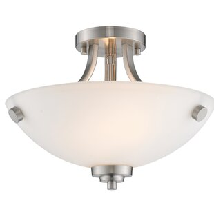 Hirst 2-Light Semi Flush Mount by Charlton Home