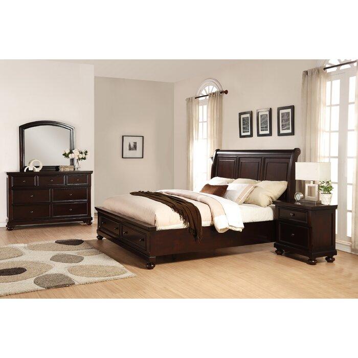 Jaimes Queen Platform 4 Piece Bedroom Set
