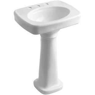 Compare & Buy Bancroft® Ceramic 24 Pedestal Bathroom Sink By Kohler
