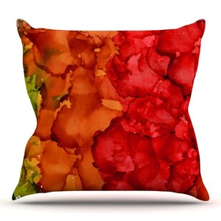 Fall Splatter By Claire Day Outdoor Throw Pillow by East Urban Home