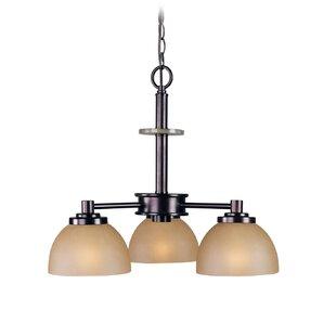 Ajo 3-Light Shaded Chandelier by Woodbridge Lighting
