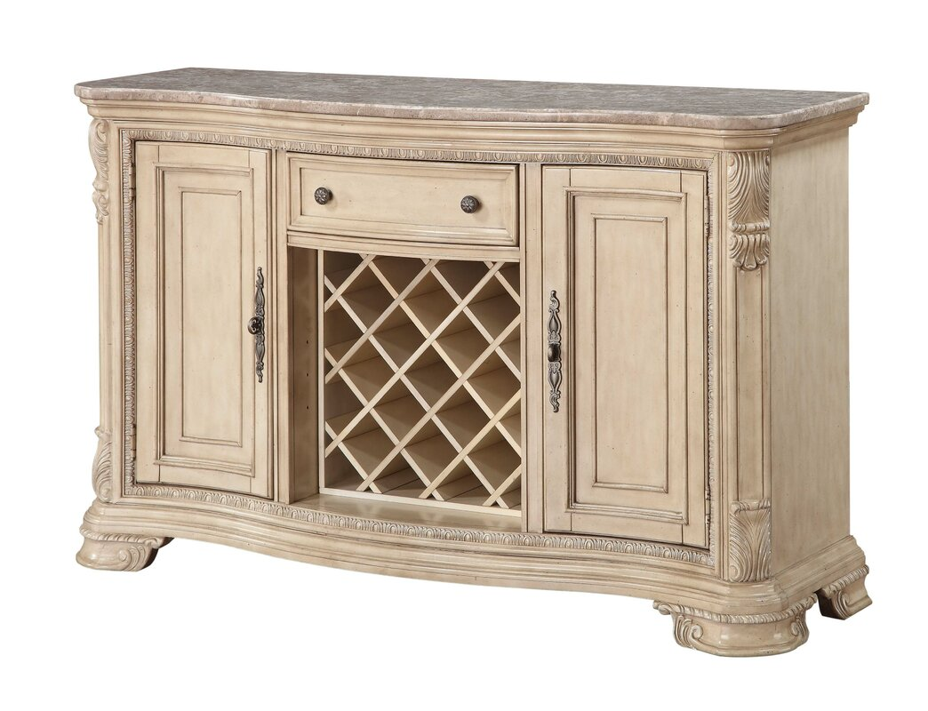Charming Esplanade Kitchen Island With Marble Top