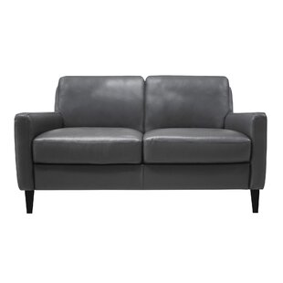 Ivy Bronx Carnmoon Leather Loveseat