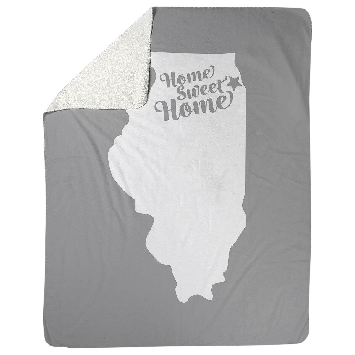 East Urban Home Chi Town Illinois Fleece Blanket Wayfair