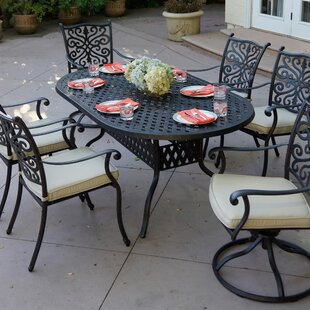 Archway Traditional 7 Piece Dining Set with Cushions