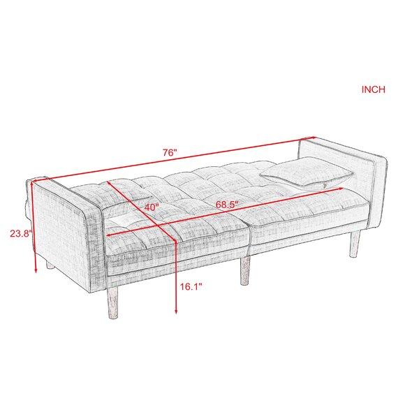 Tilden Twin 75'' Wide Tight Back Convertible Sofa
