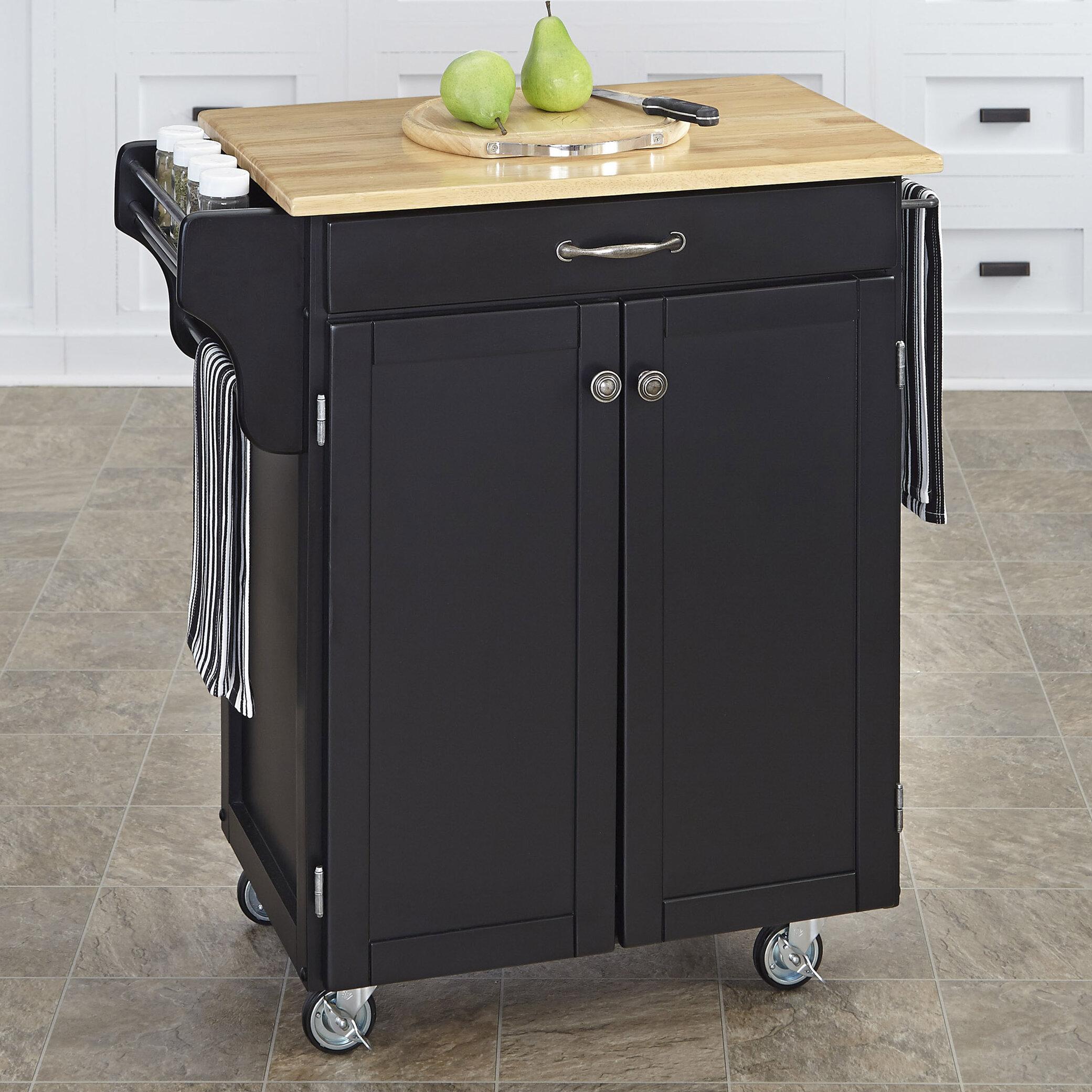 Black Kitchen Islands Carts You Ll Love In 2020 Wayfair