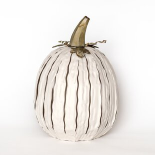 Tall Pumpkin Luminary Decorative Lantern by Desert Steel