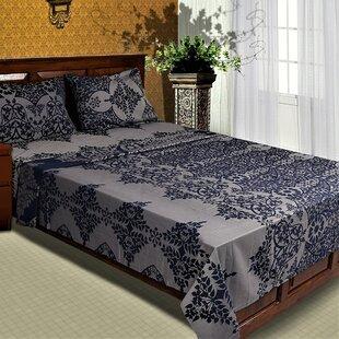 Rosdorf Park Quinlan Genuine Damask 300 Thread Count 100% Cotton Sheet Set