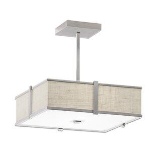 ILEX Lighting Hatbox Square Pendant with ..